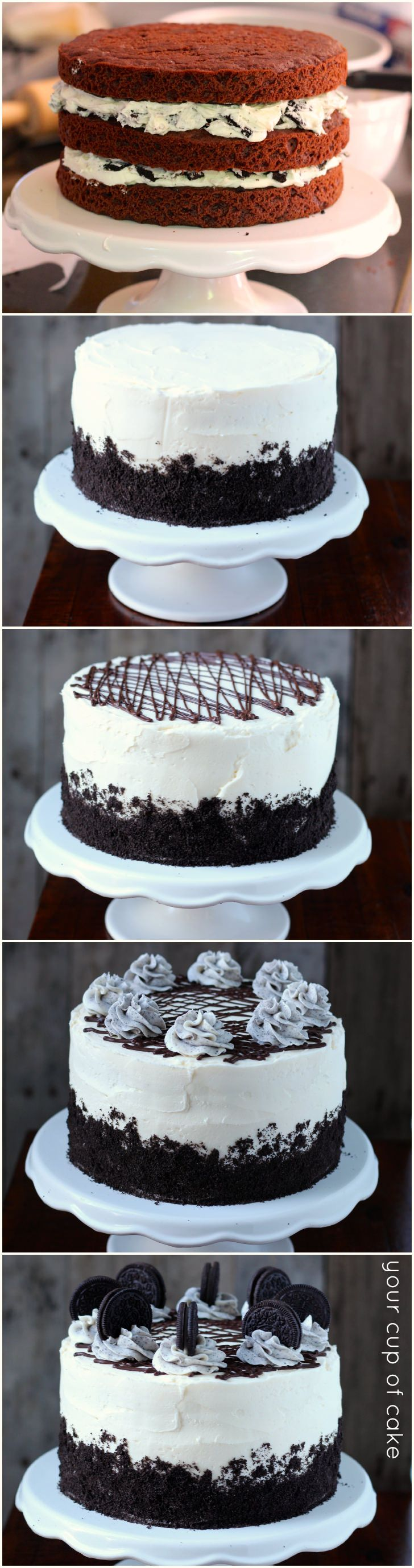 How to make an Oreo Cake. Must make for Justins birthday!