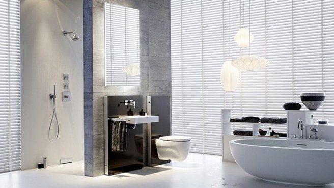 douche à l'italienne murs