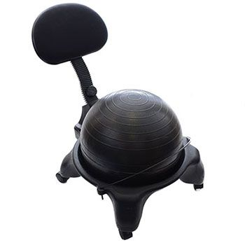 exercise ball chairs are replacing regular chairs