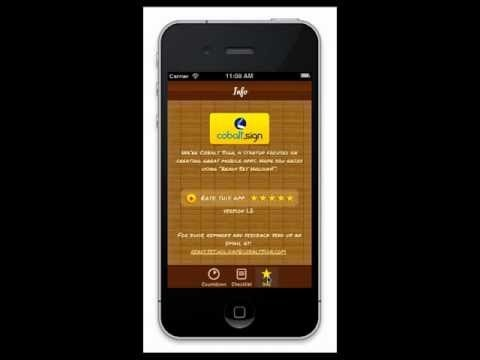 iPhone app: Ready Set Holiday! is a holiday countdown timer and checklist.  readysetholiday.cobaltsign.com
