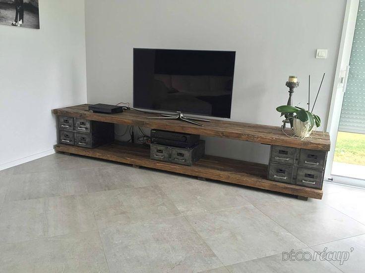 Meuble Tv Dit Parpaing Et Bois Diy Tv Stand Home Projects