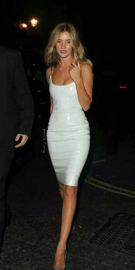 Cool White leather dress 2018-2019