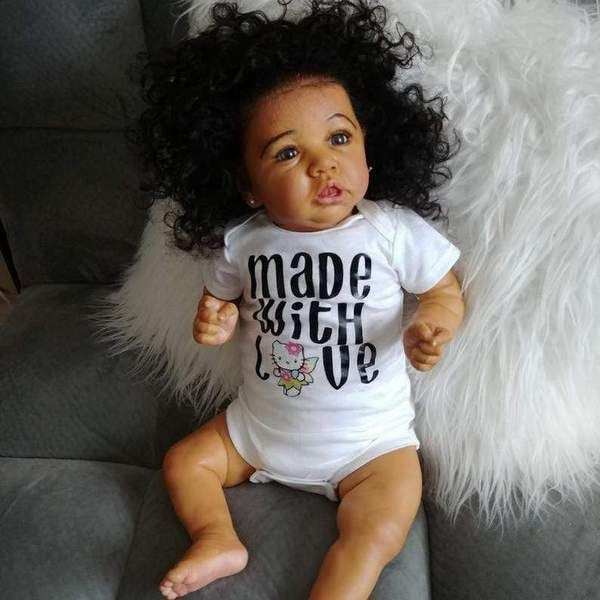 22/' reborn baby doll full body silicone reborn toddler baby dolls black boy