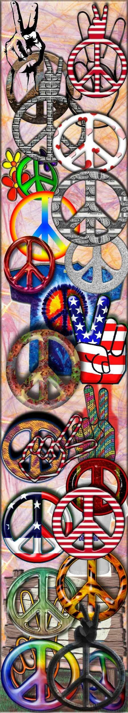 This picture is clear because everyone knows that its a peace sign or symbol. It is usually a hippy or anti violence symbol.