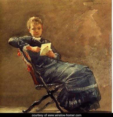 winslow homer reading woman books american