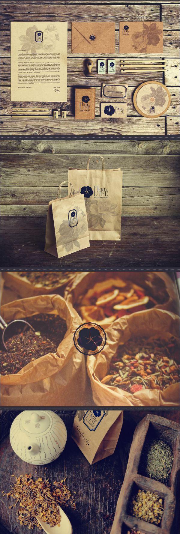 Branding: Fleur de Lune Herbalist Shop by Carla Sartori