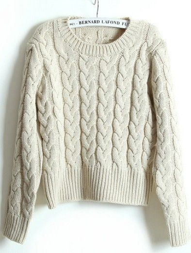 Beige Long Sleeve Sweater