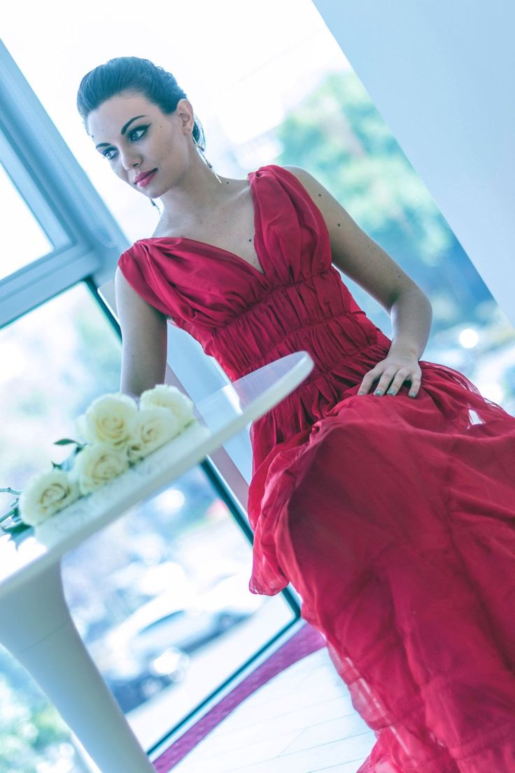 #Red #Passion #Rose #Dress #Elegant #Romantic #StadaBoutique #GeorgianaStavrositu