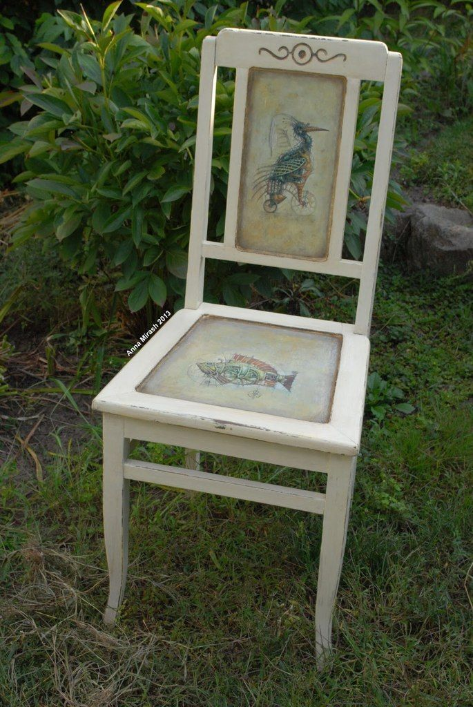 Anna Mirash decoupage 2013 - restored old chair