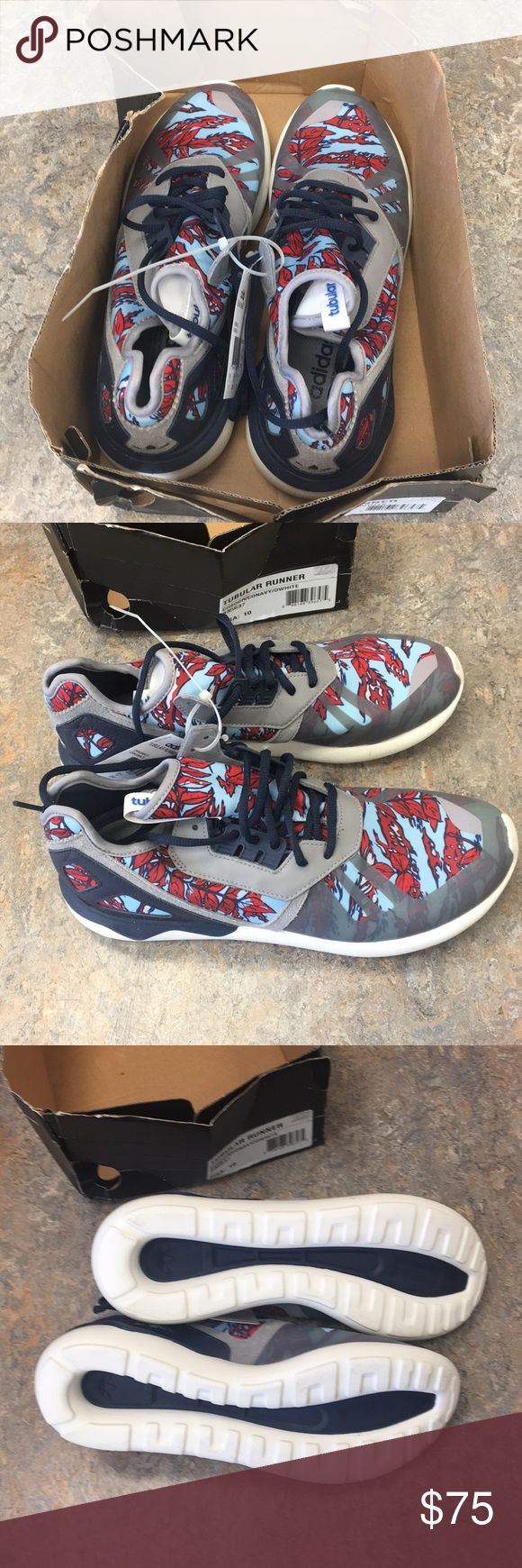 Adidas Tubular Runner Men's Shoes Size 10 Brand new with box (top torn off) Adidas Tubular runner shoes size 10. adidas Shoes Athletic Shoes http://feedproxy.google.com/fashionshoes11