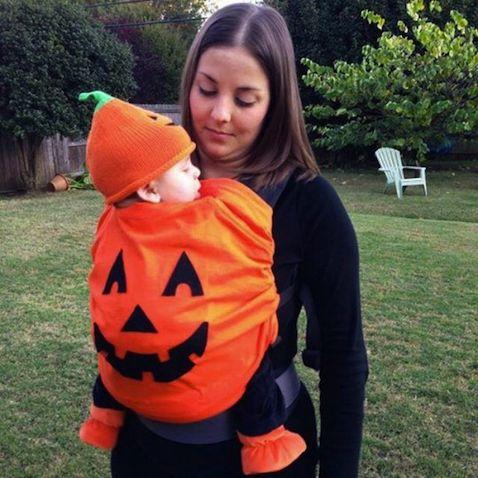 disfraz halloween bebe calabaza