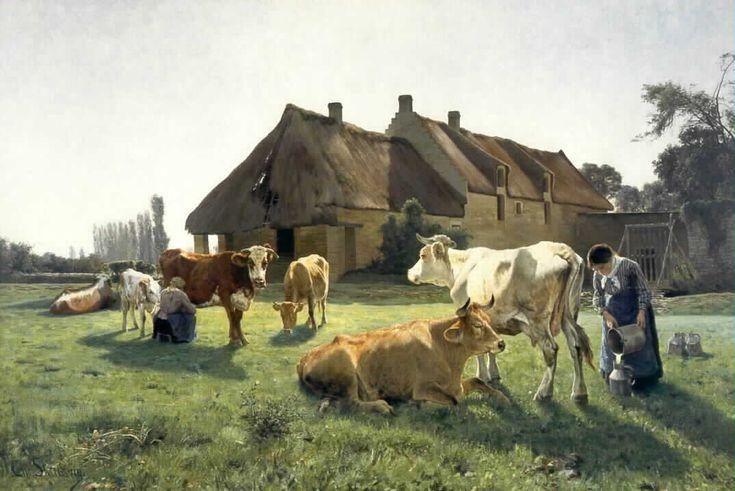Christian Skredsvig (1854-1924): A farm in Venoix, 1881