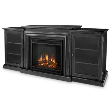 Real Flame Frederick Entertainment Center with Electric Fireplace