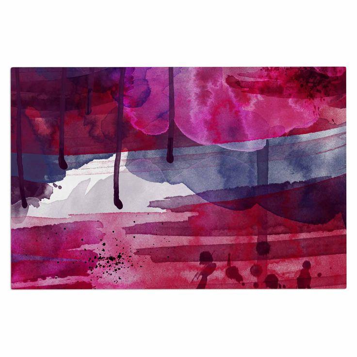 "Li Zamperini ""Purple"" Purple Pink Decorative Door Mat"