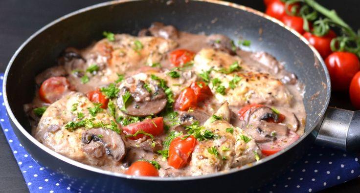 Tejszínes-gombás csirke recept marsalával | APRÓSÉF.HU - receptek képekkel