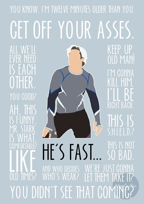 Quicksilver / Pietro Maximoff poster by MacGuffin Designs If there's enough call for it I will make these available to everyone on the shop: http://macguffindesigns.etsy.com