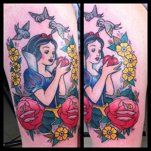 Snow White tattoo by Sailor Marc