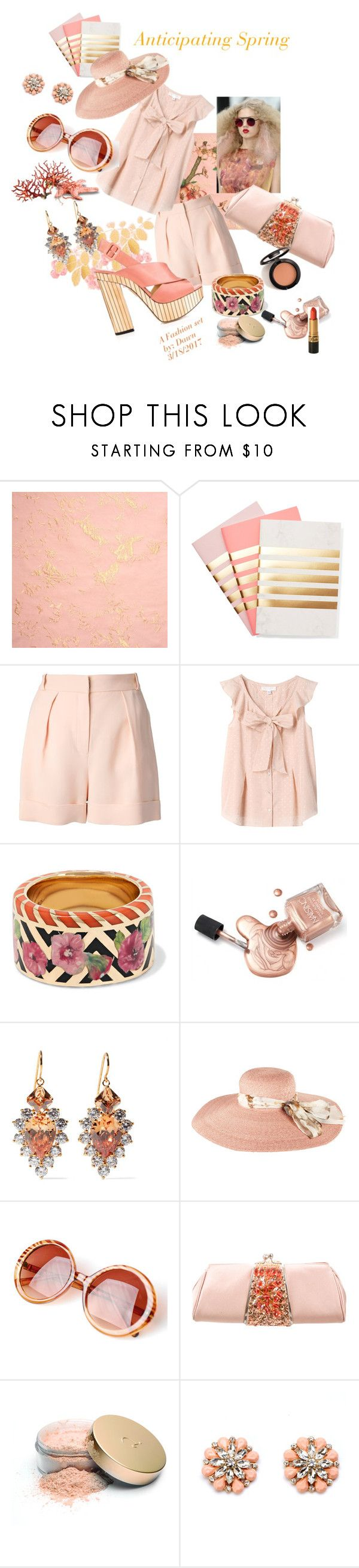"""SPRING"" by dawn-lindenberg ❤ liked on Polyvore featuring StudioSarah, Lala Berlin, Alice Cicolini, Topshop Unique, Noir Jewelry, Paul Smith, Judith Leiber, Jane Iredale and Oxford"