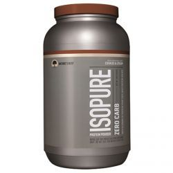 Nature's Best, Iso Pure, Isopure Protein Powder, Zero Carb, Cookies & Cream, 3 Lbs (1361 G), Diet Suplements 蛇