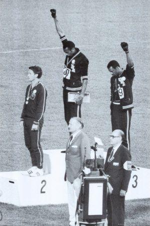 Sympathisants des Black Panthers aux Jeux Olympiques, 1968