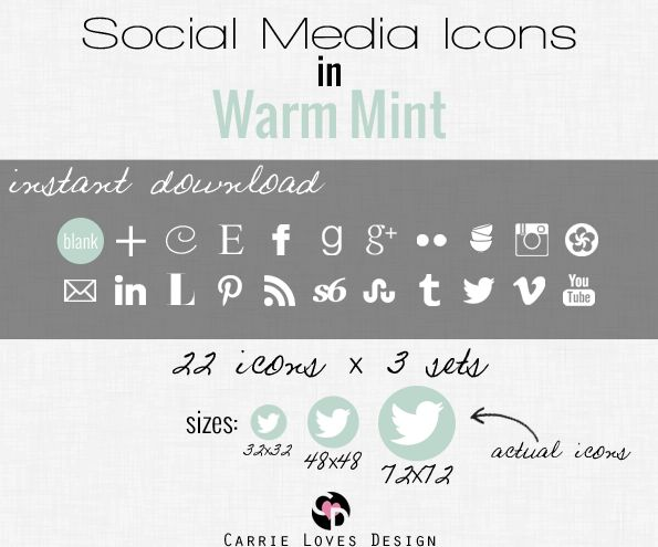 How to add Social Media Icons including a video how to (I just did this in less then 4 minutes to my blog!! | Carrie Loves