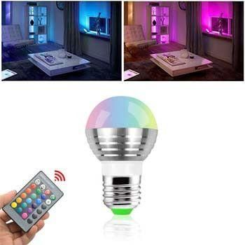 Fantastic colors and effects all at your fingertips. With the included remote you can not only change colors but also change the lighting effects of the bulb. It's about the size of a standard light bulb and fits in most lamps, light fix...