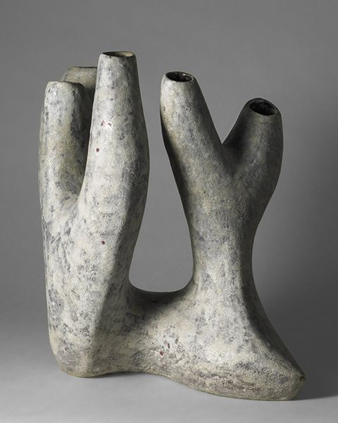 Valentine Schlegel; Glazed Earthenware Vessel, c. 1960 •●