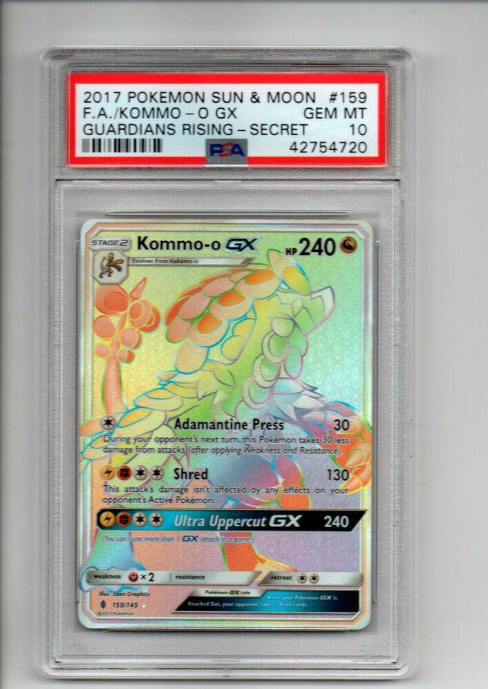 987e473a7f3 Pokemon TCG PSA 10 Full Art Secret Rare Kommo-O GX x1 Pokemon Gem Mint -  Pokemon Gifts -  34.99 End Date  Friday Apr-5-2019 6 27 49 PDT Buy It Now  for only  ...