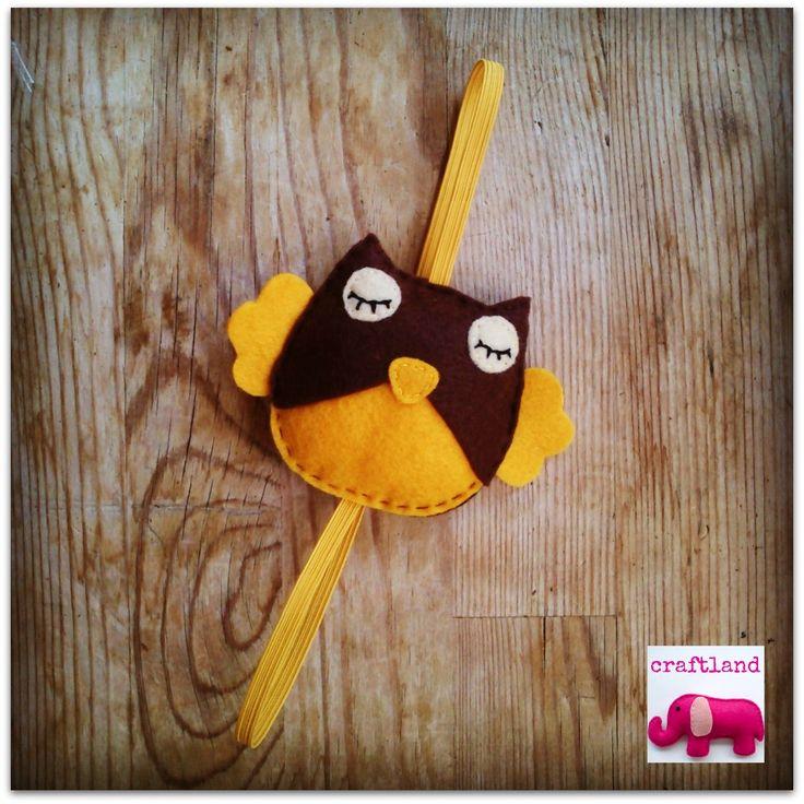 Yellow-brown felt owl!!