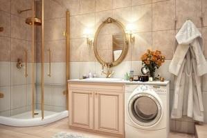 Винтажный дизайн интерьера ванной комнаты