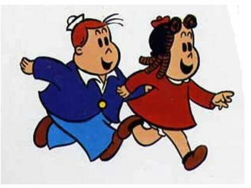 Caricaturas de la pequeña Lulu y Toby