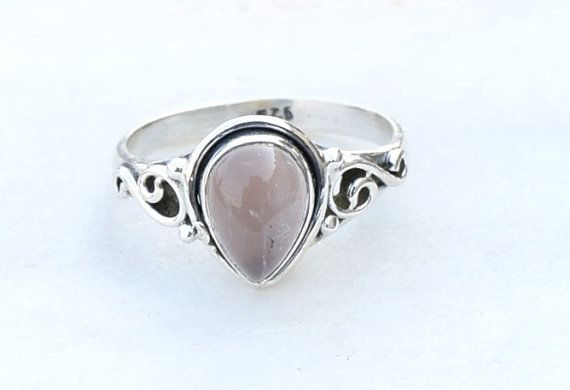 Rose quartz ring, Ring, stenen Ring, Ring Zilver, Rozenkwarts steen Ring, Sterling Zilver, edelsteen Ring, kerstcadeau