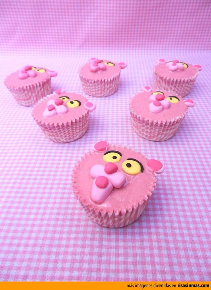 Pink Panther cupcakes - so cute!