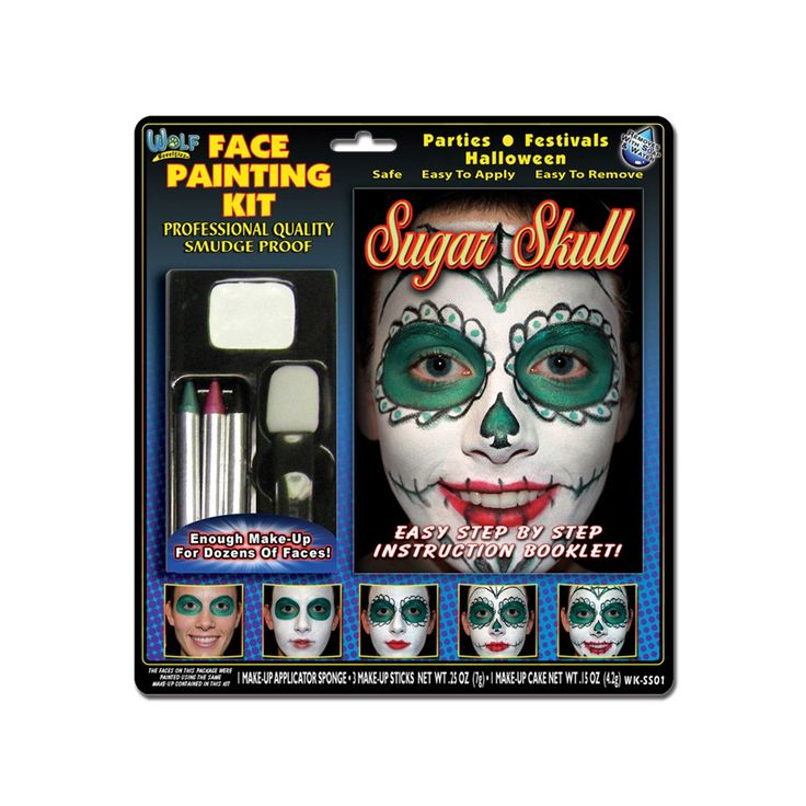 Wolfe Sugar Skull Face Painting Kit