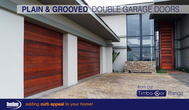Wooden sectional garage doors from our Timba-dor™ Range with a Horizontal grooved detail in the design.  visit www.doorzonesa.com for more styles