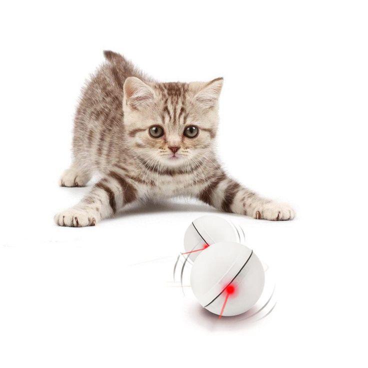 Loskii PT-15 Electronic 360 Degree Self Rotating Ball Automatic Rolling Ball LED Light Pet Cat Toys at Banggood