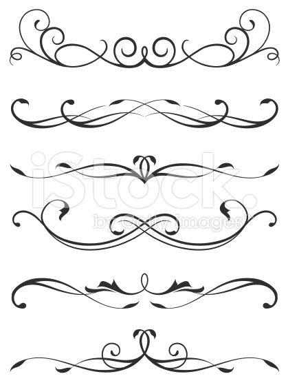 scroll design royalty-free vector art illustration