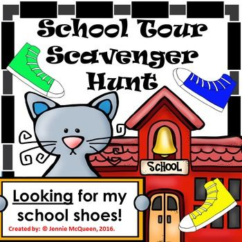 School Scavenger Hunt: Looking for School Shoes! Perfect for back to school!