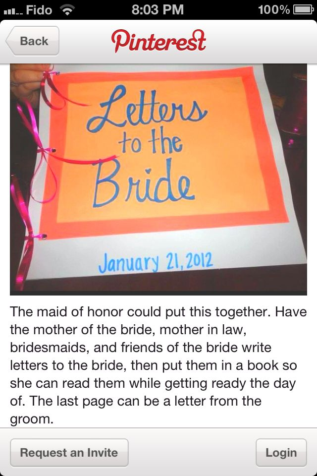 book for bride made my maid of honour @Sharon Macdonald Macdonald Glynn can we do this for each other