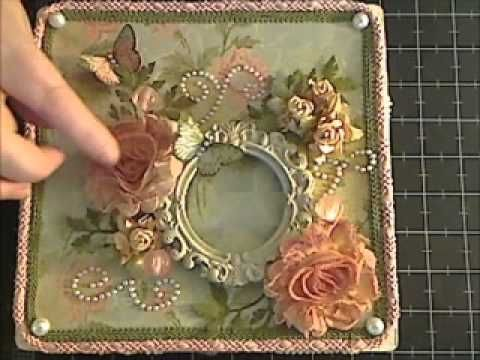 Decorating an altered cigar box video tutorial ~ very pretty.