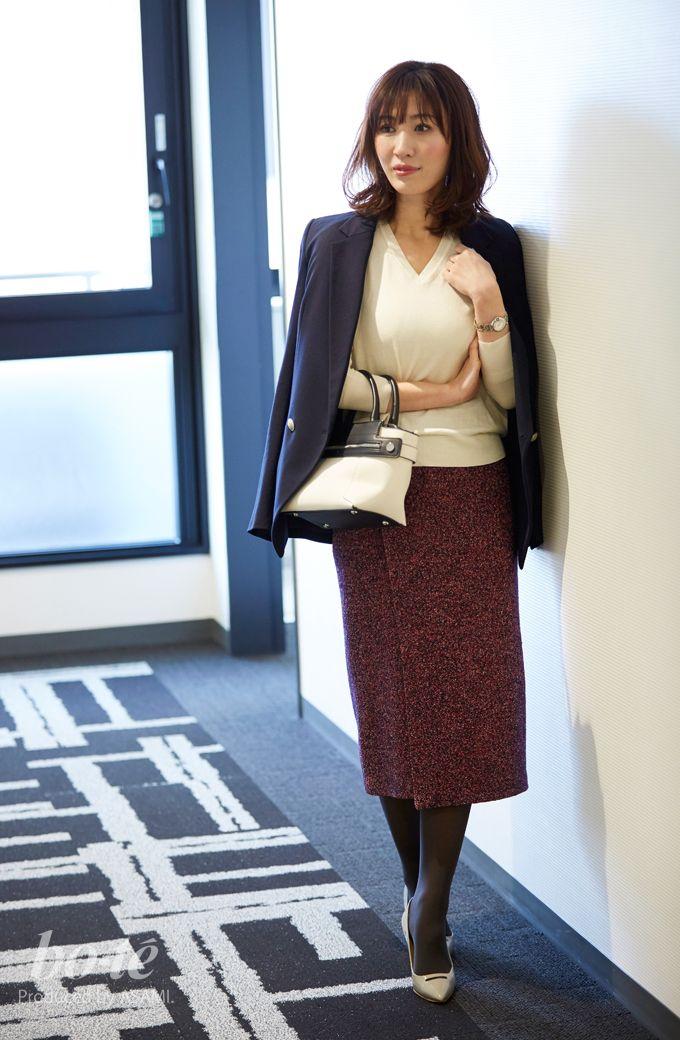 f4a9b80278e06 ツイードスカートが存在感を発揮する定番ジャケットコーデ2 fashion  coordinate  ファッション  オフィスカジュアル