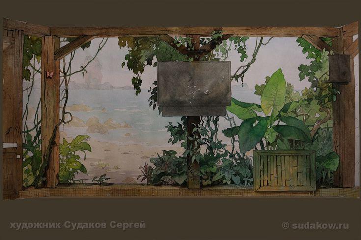 эскиз для росписи стен