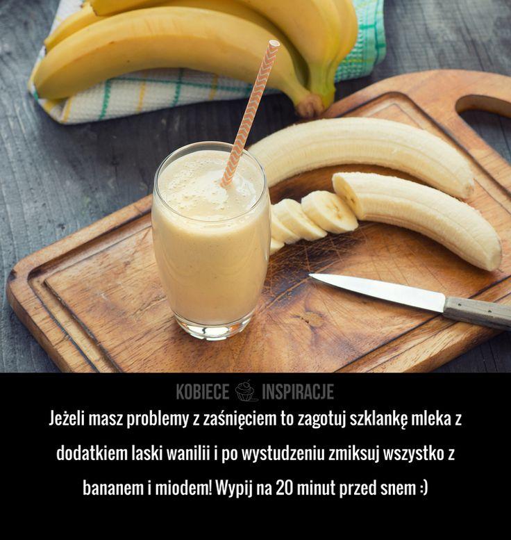 Jeżeli masz problemy z zaśnięciem to zagotuj szklankę mleka z dodatkiem laski wanilii i po wystudzeniu zmiksuj wszystko z bananem ...