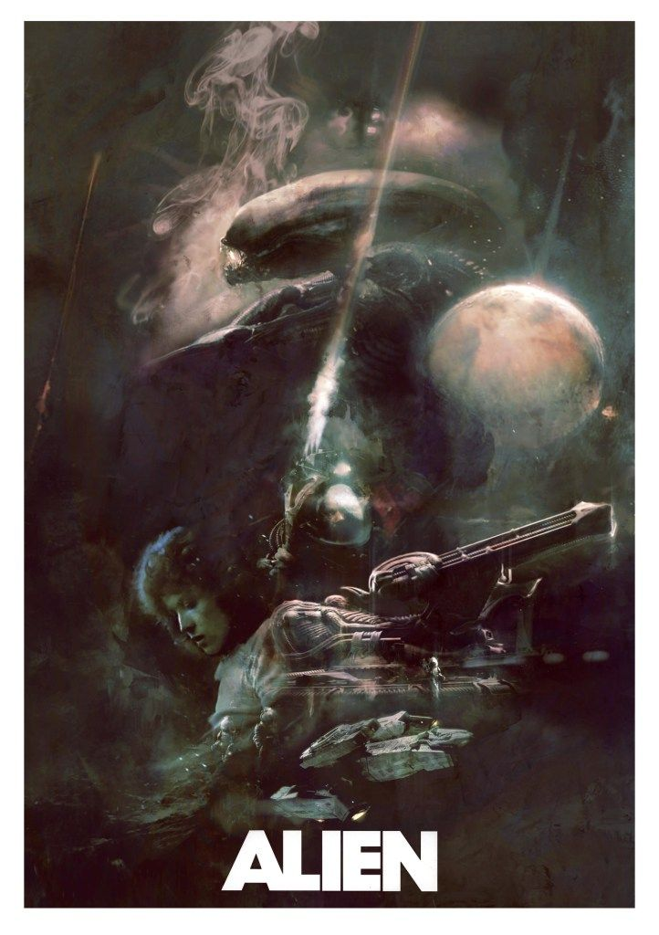 Absolutely LOVE this #Alien watercolour painting by Christopher Shy http://studioronin.com/ #WeylandYutani
