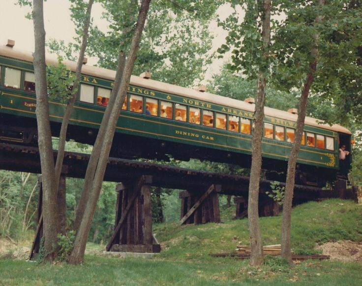Railway offering train rides and dining car service in Eureka Springs, Arkansas.