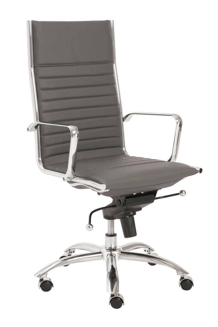 modern office chair. Euro Style Dirk High Back Office Chair In Gray/Chrome Modern S