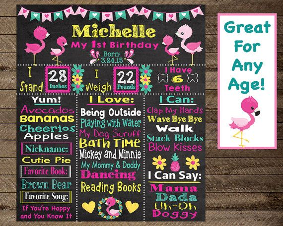 girl's first birthday chalkboard poster flamingo by InJOYPrints, girl's first birthday chalkboard poster, flamingo theme first birthday, flamingo first birthday, second, third, flamingo chalkboard, sign, 2, flamingo theme birthday, flamingo first birthday, flamingo birthday chalkboard, birthday poster, birthday chalkboard, girl first birthday, girl second birthday, girl third birthday, first birthday chalkboard, memory board, milestone sign, milestone chalkboard, first birthday photo prop
