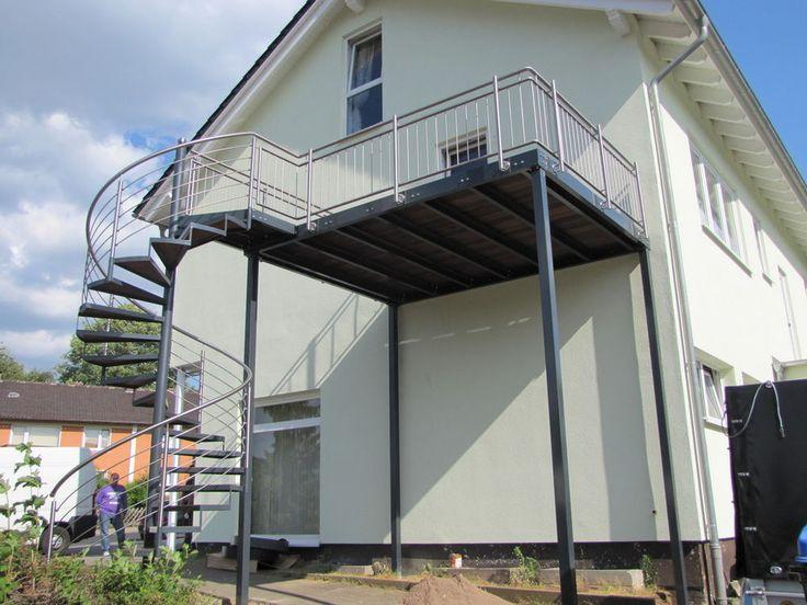 Balkon Anbaubalkon Verzinkt  + Wendeltreppe Edelstahl in Heimwerker, Fenster, Türen & Treppen, Treppen | eBay!