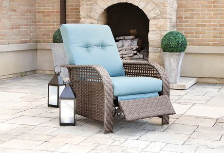 hometrends tuscany recliner blue patio