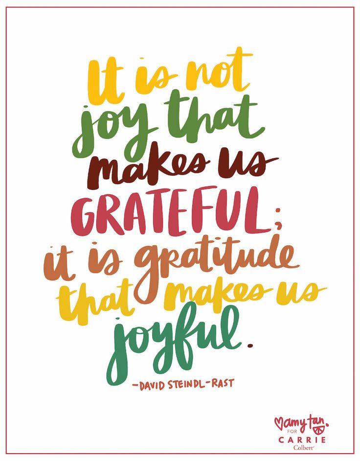 Joy + gratitude